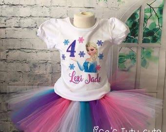 Frozen birthday outfit, frozen birthday tutu, elsa birthday shirt, elsa birthday outfit, elsa birthday tutu, frozen birthday shirt,
