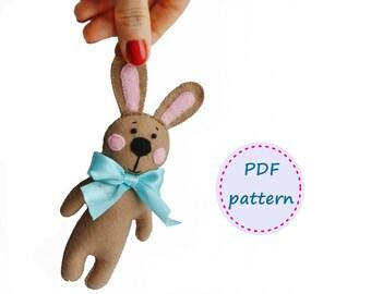 Felt Rabbit, Rabbit Pattern, Felt Pattern, Felt Bunny, Felt Bunny Pattern, Easter Pattern, Easter Rabbit, Easter Decorations, Felt Patterns