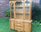French Provincial China Cabinet, Hutch, Ready to Customize