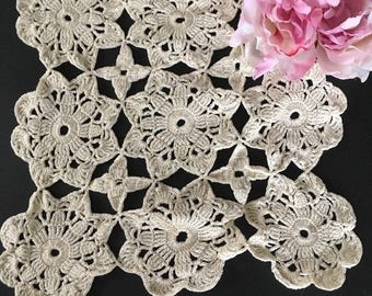 Vintage Butter White Cotton Crocheted Lace Doily