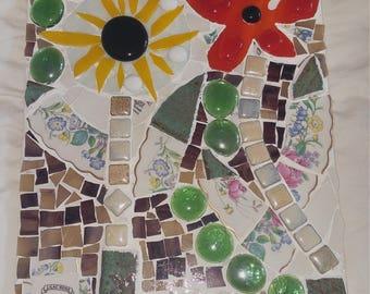 summer garden mosaic tile
