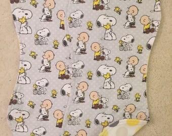 Snoopy burp cloths, Charlie Brown burp cloths