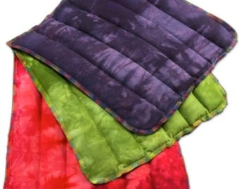 Hand-Dyed Shibori Rice Bag, Microwave Pack, All Purpose, Heating Pad, Heat Therapy