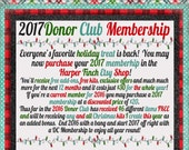 NO COUPONS - 2017 Donor Club Membership