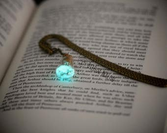 Dragon Bookmark Glow in the Dark Bookmark Bottle Bookmark Christmas Gift Small Gift Nerdy Gift Metal Dragon Bookmark Green Blue Bronze