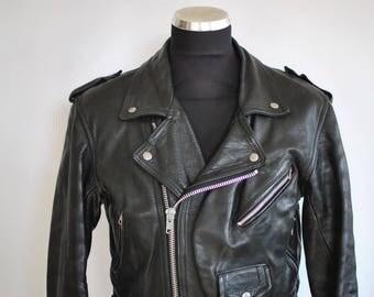 Vintage MODEKA MEN'S BIKER leather jacket .............(333)