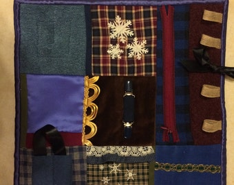 Fidget Quilt/ Sensory Blanket - This Old Shirt