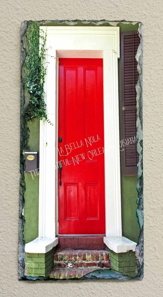 New Orleans Red Door 203 Slate New Orleans Art Slate Art