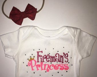 Fireman's Princess Bodysuit + Bow