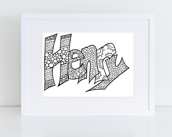 Color Your Name HENRY Printable Coloring Pages For Kids