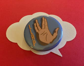 LLAP spock pin | star trek live long and prosper button