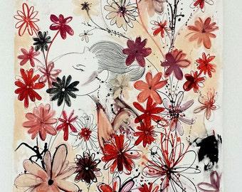 MM Original - 'Red flower field'