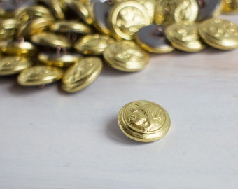 Vintage Gold Plated Lion Small Buttons Pin Colorful Collection Rare Collection Soviet Button Royal Lion Pins Supplies Communist memorabilia