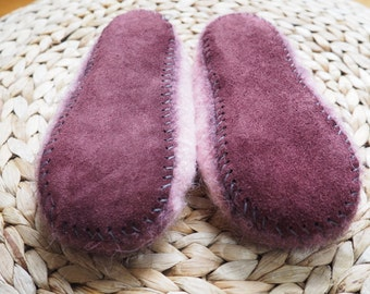 Upcycled Toddler/Youth Leather Slipper Soles