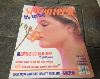 April 1984 SEVENTEEN MAGAZINE ; Lots of good  1984 articles and ads