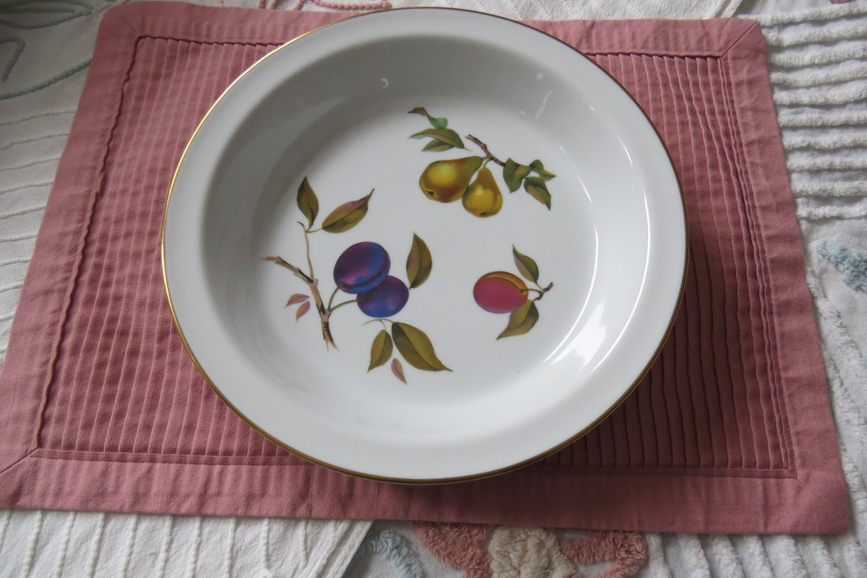Oven To Tableware Pie Plate Evesham 1961 Royal Worcester Fine Porcelain  Royal Worcester