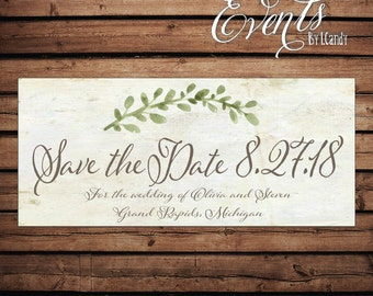 Wedding Save-the-Date Sample - Vintage Parper Laurel 31