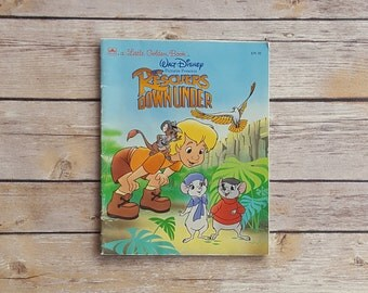 Rescuers Down Under Disney Children's Book Little Kids Book Vintage Rescuers Book Disney Story Upcycle Disney Pages Retro 90s Disney Gift