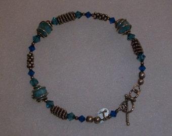 wirework and amazonite bracelet.