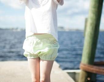 Mona Shorts, girls shorts, elastic shorts, bubble shorts, children clothing, summer shorts, cotton shorts, toddler shorts, girl clothing