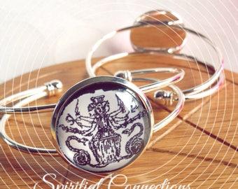 Goddess Hecate, triple goddess, Hekate handmade bangle