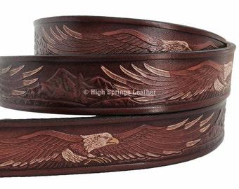 Brown Eagle Leather Belt 107