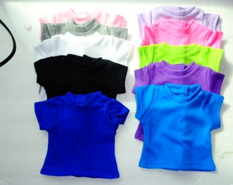 "18""  Doll  T-Shirts - Shown on my American Girl Doll-Pick your color"