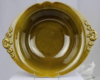 Olive Green Haeger Serving Bowl