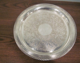 1881 Rogers Silver Plate Serving tray 12""