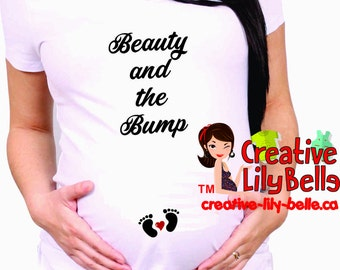 MATERNITY SHIRT beauty and the bump cm312