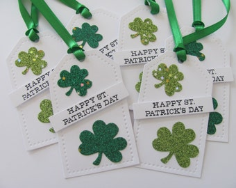 Happy St. Patrick's Day Tags, Shamrock Tags, St. Patrick's Day Gift Tags, Shamrock Gift Tags, Irish Tags, Clover Tags, Shamrock Tags, Green