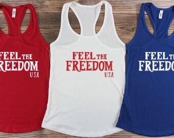 America Shirt/ America Tank top/ 4th of July Shirts/ 4th of July Tank Top/ Patriotic Shirts/ Red White and Blue Shirts/ Merica Tank top