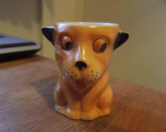 1950s dog/lion egg cup