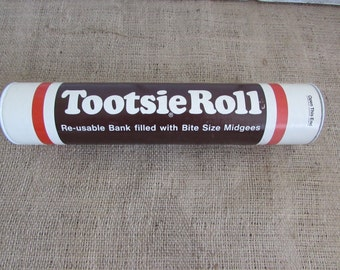 Tootsie Roll Bank, Vintage Tootsie Roll Bank, Collectible Tootsie Roll Bank, Candy Bank, Vintage Banks, Collectible Tootsie Roll Items
