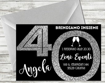 Personalized 40th Birthday Invitation, 40th birthday invitation for women, 40th invitations, 40th birthday party invitations