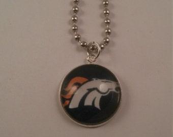 Sports Football Bronco Handmade Charm Necklace