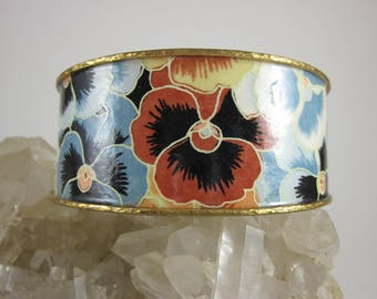 Pansies Paper and Wire Cuff