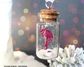 Flamingo Christmas Ornament - Personalised Christmas Decoration - Pink Christmas - Flamingo decoration - Gift for girls - Stocking filler