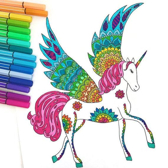 Downloadbare Unicorn kleurplaat