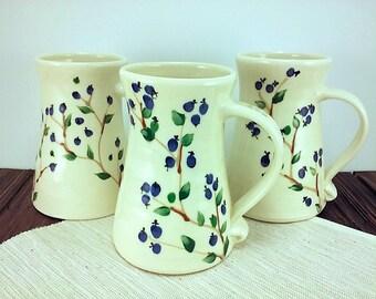 Large Pottery Mug, 20 ounce, Travel Coffee Cup, Ceramic Mug