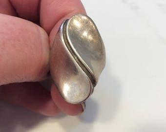 Vintage sterling silver modernist mid century ring
