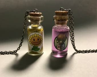 PvZ inspired Health Necklaces for Plants and Zombies