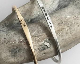 Venus Symbol // Women // Resist // Cuffs // Jewelry // Donation