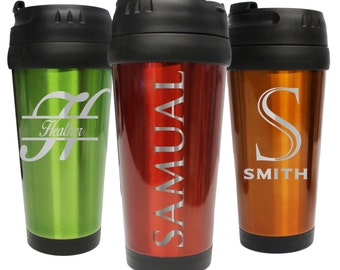 Personalized Travel Coffee Mug, Coffee Tumbler, Travel Tumbler, Travel Coffee Cup, Custom Coffee Mug, Monogrammed Travel Coffee Mugs