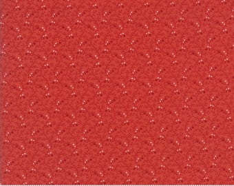 Moda Fabric - Snowfall by Minick & Simpson Poinsettia 14836-12 - Quilt, Quilting, Clothing, Crafts, Christmas, Holiday
