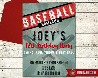 Baseball Birthday Invitation | Baseball Party | Baseball invitation | Sports Birthday | Baseball, Tourament, Digital, Birthday, Sport Party