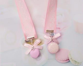 bookmark ribbon macarons polymer clay