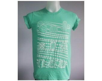 Cactus cacti cactuses Graphic Mint Green T-Shirt Size S-XL
