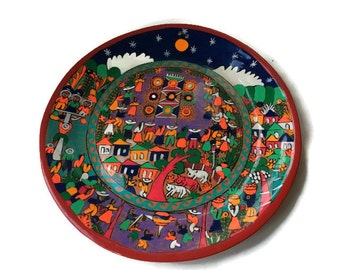 Mexican Clay Plate Etsy