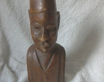 Large wooden bust